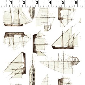 Sailing Ships Light Khaki Quarterdeck y2361 11