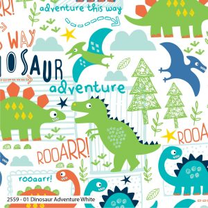 Dinosaur Adventure White