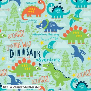 Dinosaur Adventure on Blue