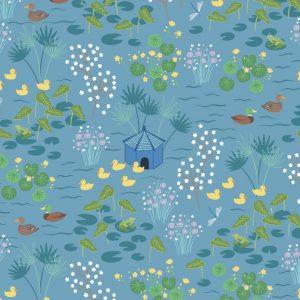 Duck pond on sky blue A450.3