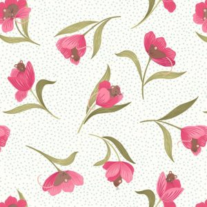 Mouse tulip on cream A460.1
