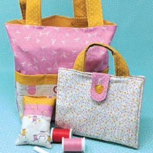 Sewing Tote Pincushion and Sewing example