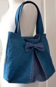 Easy Bow Bag Sewing Pattern.