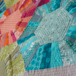Hexa scrappy Quilt Sewing Pattern