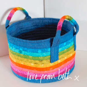 Rainbow Basket Sewing Pattern.