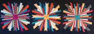 Sparkler Quilt Block Sewing Pattern.