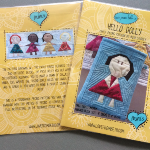 hello dolly sewing pattern cover