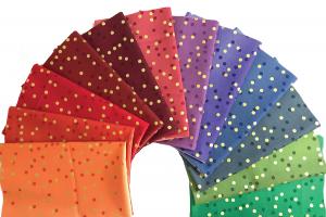 Moda Fabric Ombre Confetti Metallic Junior Jelly Roll