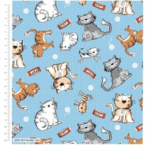 Craft Cotton Co. Friendly Cats 2695
