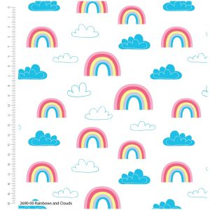 Craft Cotton Co. Rainbows and Clouds 2690