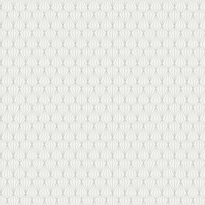 Silver geometric on cream MM4.1